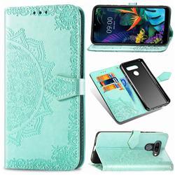 Embossing Imprint Mandala Flower Leather Wallet Case for LG K50 - Green