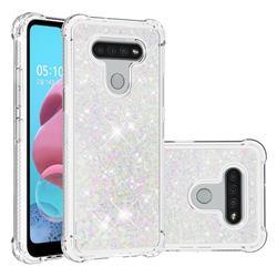 Dynamic Liquid Glitter Sand Quicksand Star TPU Case for LG K51 - Pink
