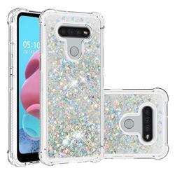 Dynamic Liquid Glitter Sand Quicksand Star TPU Case for LG K51 - Silver