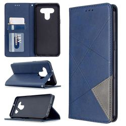 Prismatic Slim Magnetic Sucking Stitching Wallet Flip Cover for LG K51 - Blue