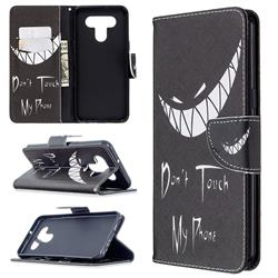 Crooked Grin Leather Wallet Case for LG K51