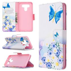 Butterflies Flowers Leather Wallet Case for LG K51
