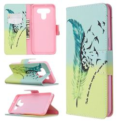 Feather Bird Leather Wallet Case for LG K51