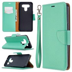 Classic Luxury Litchi Leather Phone Wallet Case for LG K51 - Green