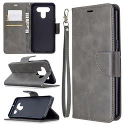 Classic Sheepskin PU Leather Phone Wallet Case for LG K51 - Gray