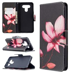 Lotus Flower Leather Wallet Case for LG K51