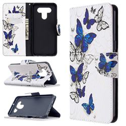 Flying Butterflies Leather Wallet Case for LG K51