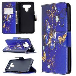 Purple Butterfly Leather Wallet Case for LG K51