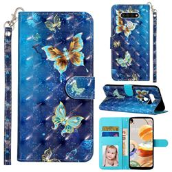 Rankine Butterfly 3D Leather Phone Holster Wallet Case for LG K51