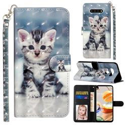 Kitten Cat 3D Leather Phone Holster Wallet Case for LG K51