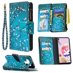 Blue Plum Binfen Color BF03 Retro Zipper Leather Wallet Phone Case for LG K51