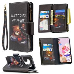 Chainsaw Bear Binfen Color BF03 Retro Zipper Leather Wallet Phone Case for LG K51