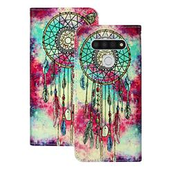Butterfly Chimes PU Leather Wallet Case for LG K51