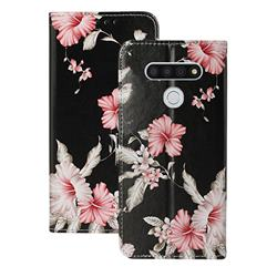 Azalea Flower PU Leather Wallet Case for LG K51