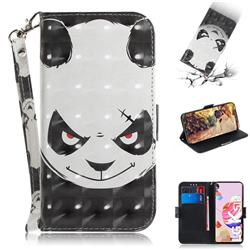 Angry Bear 3D Painted Leather Wallet Phone Case for LG K51S