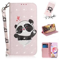 Heart Cat 3D Painted Leather Wallet Phone Case for LG K51S