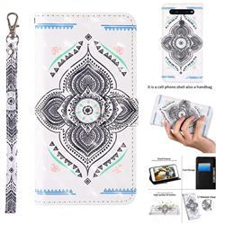 Mandala Totem 3D Painted Leather Wallet Case for LG K51S