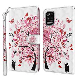 Tree and Cat 3D Painted Leather Wallet Case for LG K52 K62 Q52