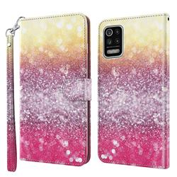 Gradient Rainbow 3D Painted Leather Wallet Case for LG K52 K62 Q52