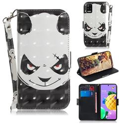Angry Bear 3D Painted Leather Wallet Phone Case for LG K52 K62 Q52