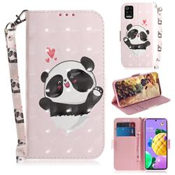 Heart Cat 3D Painted Leather Wallet Phone Case for LG K52 K62 Q52