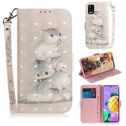 Three Squirrels 3D Painted Leather Wallet Phone Case for LG K52 K62 Q52