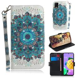Peacock Mandala 3D Painted Leather Wallet Phone Case for LG K52 K62 Q52