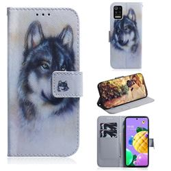 Snow Wolf PU Leather Wallet Case for LG K52 K62 Q52