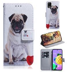 Pug Dog PU Leather Wallet Case for LG K52 K62 Q52