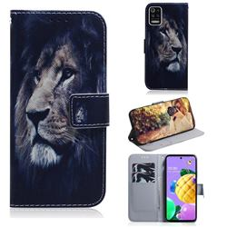 Lion Face PU Leather Wallet Case for LG K52 K62 Q52