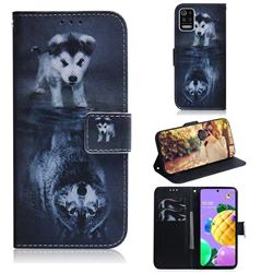Wolf and Dog PU Leather Wallet Case for LG K52 K62 Q52
