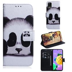 Sleeping Panda PU Leather Wallet Case for LG K52 K62 Q52