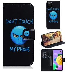 Not Touch My Phone PU Leather Wallet Case for LG K52 K62 Q52