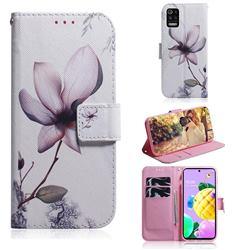Magnolia Flower PU Leather Wallet Case for LG K52 K62 Q52