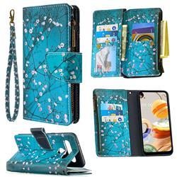 Blue Plum Binfen Color BF03 Retro Zipper Leather Wallet Phone Case for LG K61