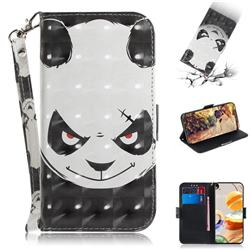 Angry Bear 3D Painted Leather Wallet Phone Case for LG K61