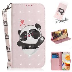 Heart Cat 3D Painted Leather Wallet Phone Case for LG K61