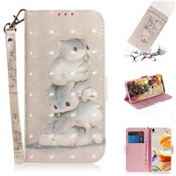 Three Squirrels 3D Painted Leather Wallet Phone Case for LG K61