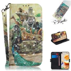 Beast Zoo 3D Painted Leather Wallet Phone Case for LG K61
