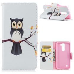 Owl on Tree Leather Wallet Case for LG K7