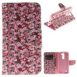 Intensive Floral PU Leather Wallet Case for LG K8