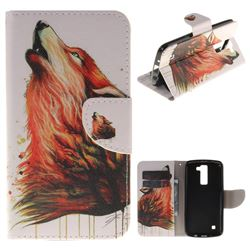 Color Wolf PU Leather Wallet Case for LG K8