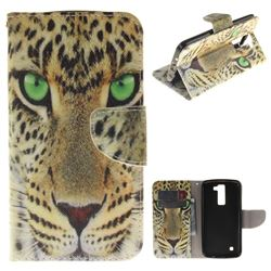 Yellow Tiger PU Leather Wallet Case for LG K8