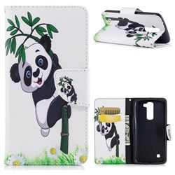 Bamboo Panda Leather Wallet Case for LG K8
