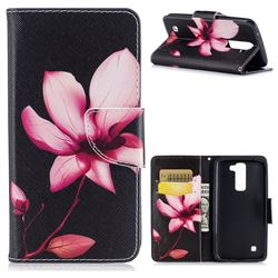 Lotus Flower Leather Wallet Case for LG K8