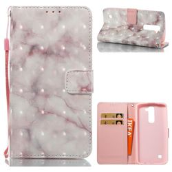 Beige Marble 3D Painted Leather Wallet Case for LG K8