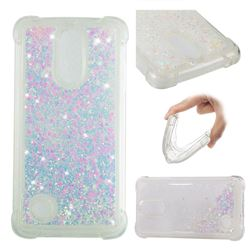 Dynamic Liquid Glitter Sand Quicksand Star TPU Case for LG K8 2017 M200N EU Version (5.0 inch) - Pink