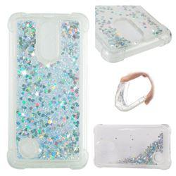 Dynamic Liquid Glitter Sand Quicksand Star TPU Case for LG K8 2017 M200N EU Version (5.0 inch) - Silver
