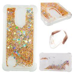 Dynamic Liquid Glitter Sand Quicksand Star TPU Case for LG K8 2017 M200N EU Version (5.0 inch) - Diamond Gold