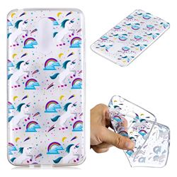 Rainbow Running Unicorn Super Clear Soft TPU Back Cover for LG K8 2017 M200N EU Version (5.0 inch)